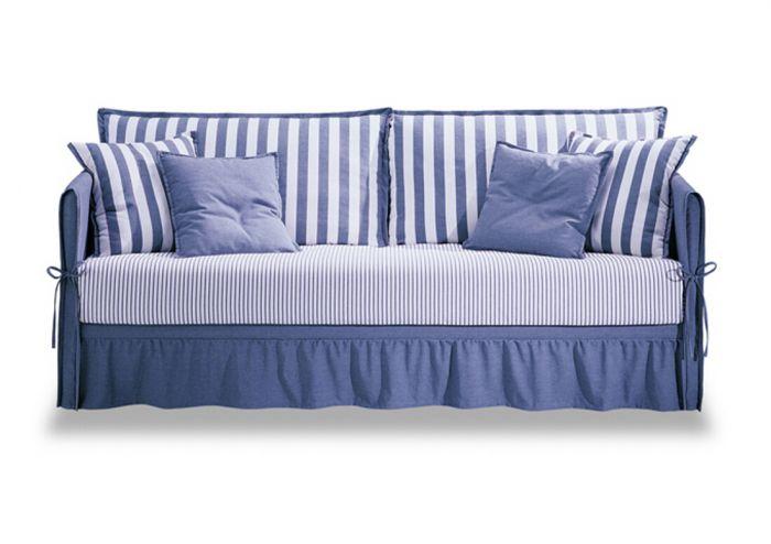 Futura fiordaliso divano letto singolo con 2 letto - Letto singolo imbottito con letto estraibile ...