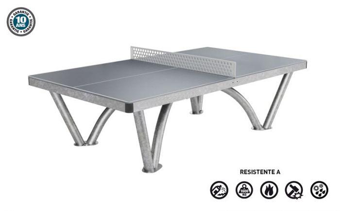 Pratmar milano tavolo da ping pong in acciaio arredi per - Tavolo da ping pong dimensioni ...