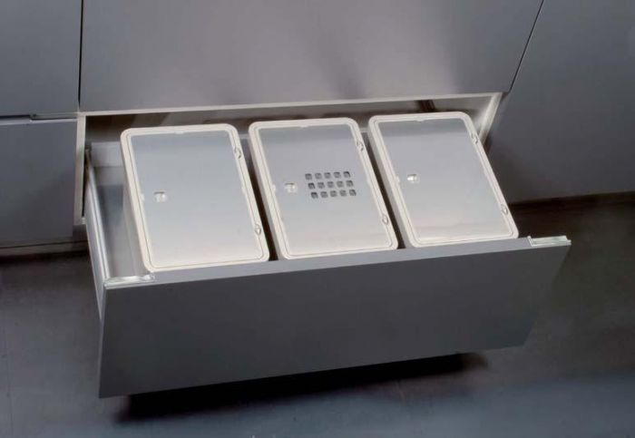 Tecnoinox Premiumkit pattumiere per umido e differenziata (cucine ...
