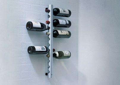Rosendahl winetube portabottiglie a muro in alluminio - Portabottiglie da parete ikea ...