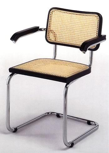 Funzionalismo sedia con braccioli di marcel breuer for Sedie acciaio e paglia di vienna