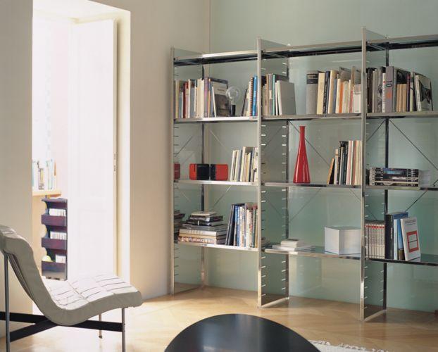 graepel libreria componibile h2 versione acciaio lucido