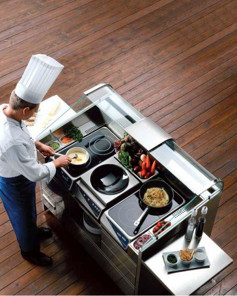 Electrolux professional piano cuttura ad induzione 2 zone verticale linea dito attrezzatura - Cucina a induzione ...