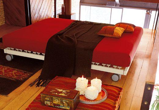 Base Letto Legno : Dorsal ies bed letto con rete in legno con sospensioni complementi