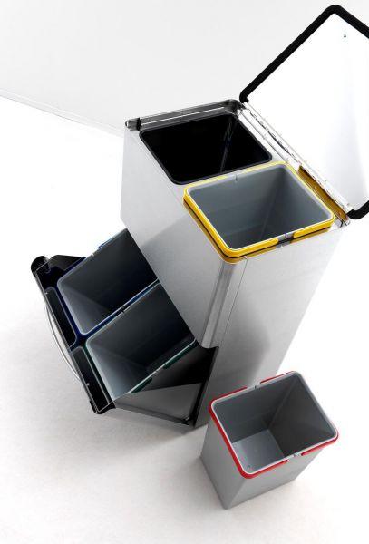 Graepel four pattumiera per la raccolta differenziata for Pattumiera cucina design
