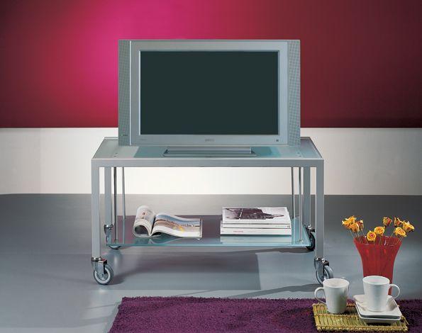 Porta Tv Cristallo Design.Ponti Terenghi Carrello Porta Tv A41 Fuorimilano Complementi
